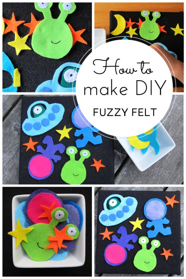How to make DIY fuzzy felt (space-themed) with free printable!  From @hodgepodgecraft