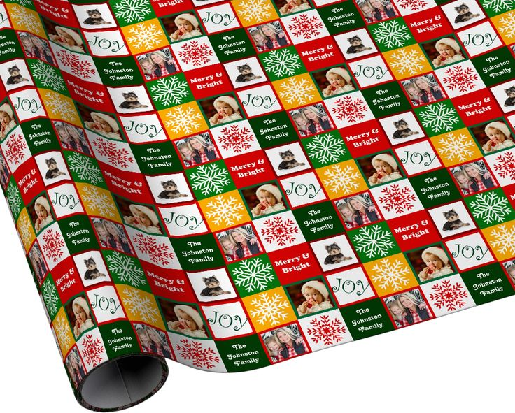 Custom family photo Christmas wrapping paper #gifts #presents