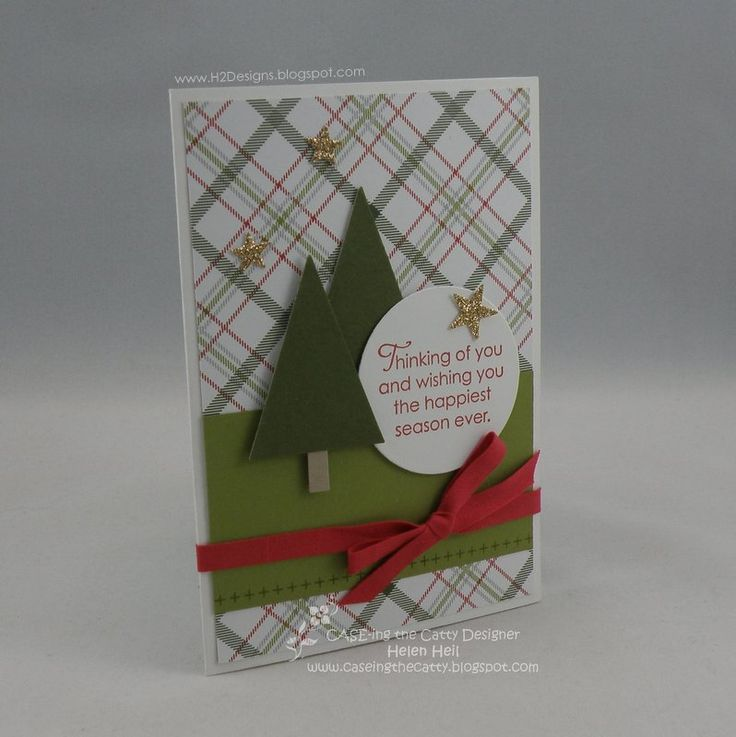 H2 Designs: CASE-ing the Catty #41 - Christmas Tunnel Card