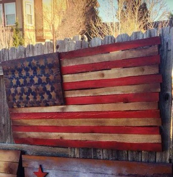 wooden american flag ww2 faded glory hand by