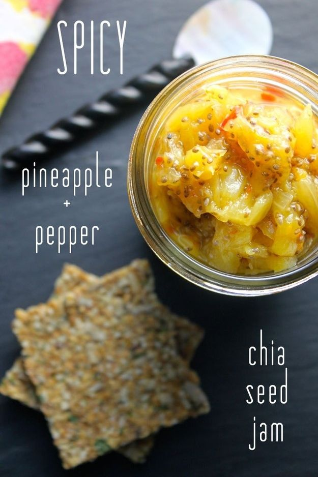 Spicy Pineapple & Pepper Chia Seed Jam | 31 Healthy And Delicious Ways To Cook With Chia Seeds