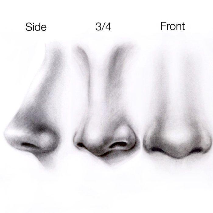Einfaches Tutorial – Wie zeichnet man eine Nase? – Silvie Mahdal – Die Kunst des Bleistifts
