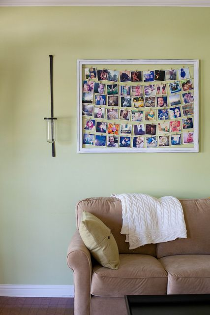 Ever-Changing Wall Art by annieseats: Switch out some of images every few months to keep it fresh.  #DIY #Photo_Display