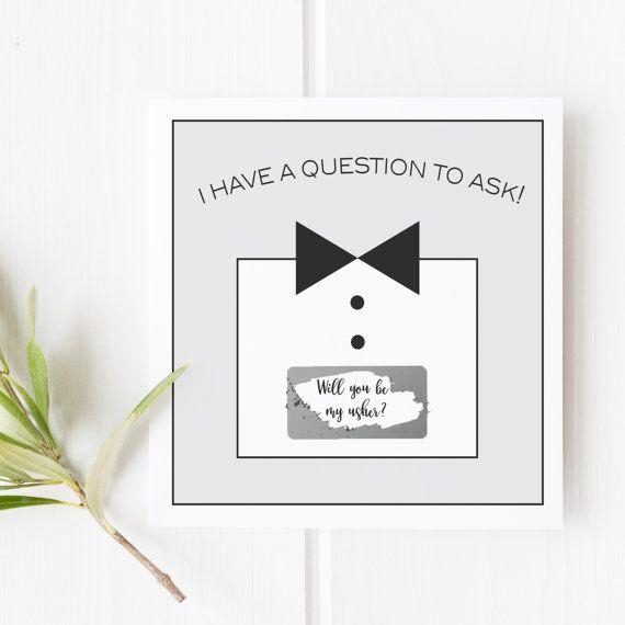 Wedding Etiquette Gifts For Ushers : ... Usher cardUsher Proposal CardWill You Be My Usher CardUsher Wedding
