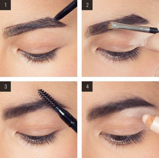 Как покрасить темные брови