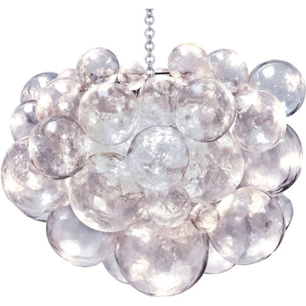 Oly Studio Muriel Clear Bubbled Silver Chandelier 200 445 Rub Liked On Polyvore Featuring Home Lighting Ceiling Lights Oly Chandelier Sphere Chandelier