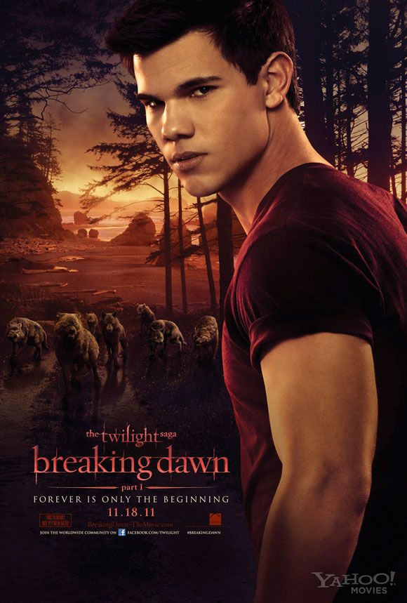 Jacob Black: official Twilight Breaking Dawn 1 movie poster