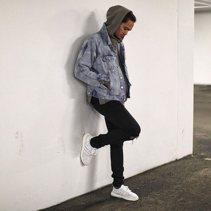White Ultra Boost Outfit Men