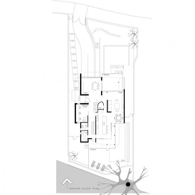 Architecture:Awesome Sketch For Home Plan Design With Ground Floor Plan Details Stunning House in Australia Designed by Edward Scewczyk