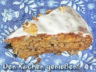 Ein saftig-leckeres Stück Möhrenbananenkuchen. Kidsville.de