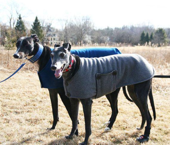 Winter-weight Fleece Peacoat for Greyhounds