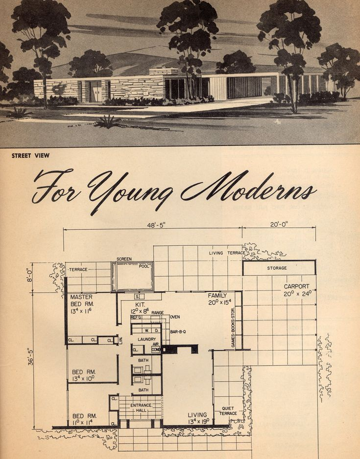 1961 House Plan For Young Moderns