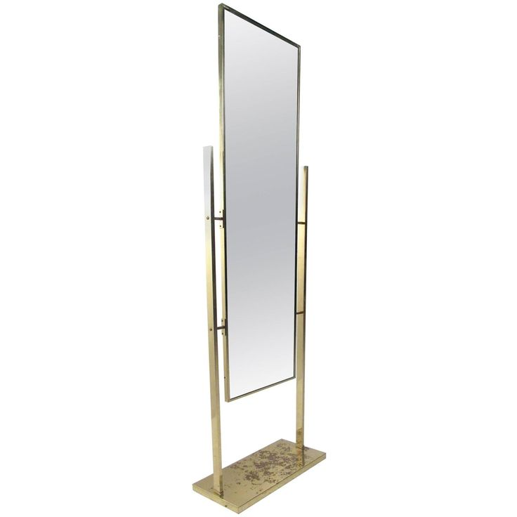 Unique Vintage Brass Finish Dressing Mirror