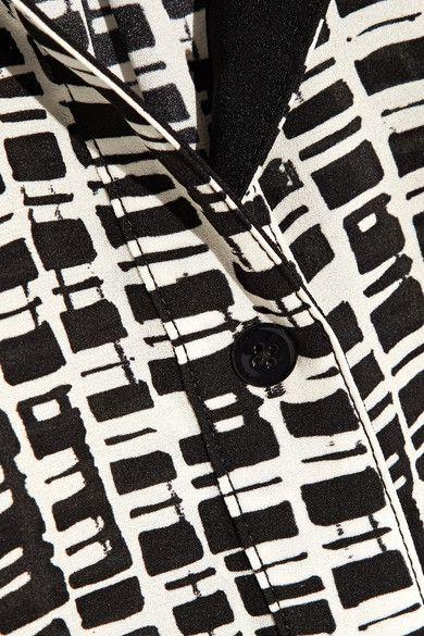 Proenza Schouler - Printed Chiffon Blouse - Black - US