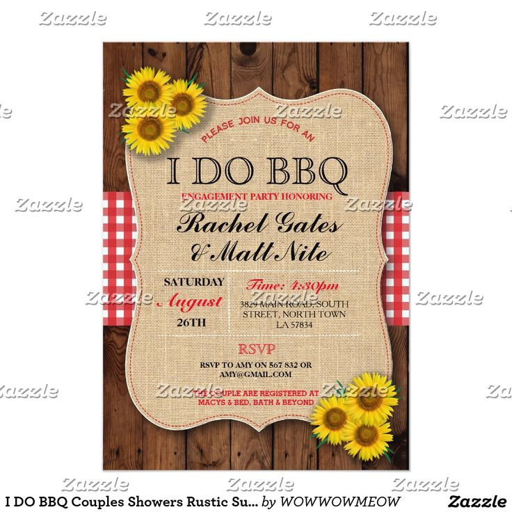 1207 best BURLAP WEDDING Invitations images on Pinterest | Bbq ...