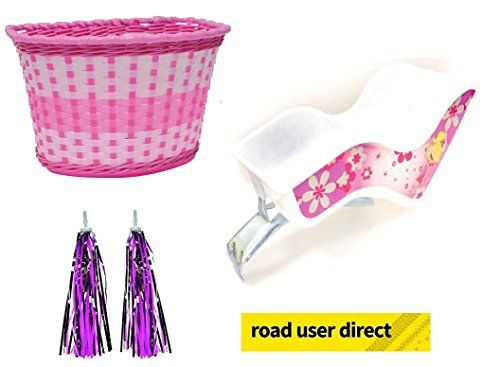 Children Bike Accessory Pack Dolly Seat Pink Basket