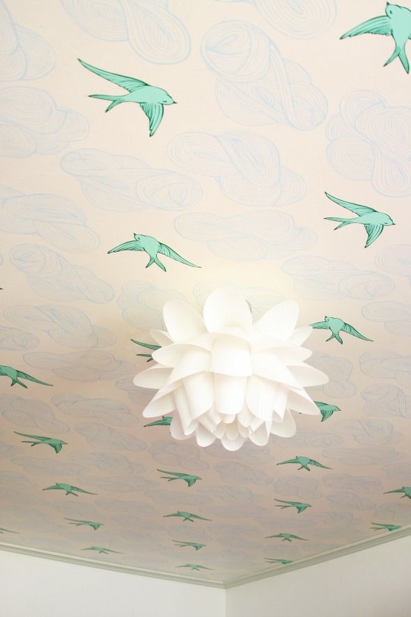Wallpaper on the Playroom Ceiling - rothman at hygge and west