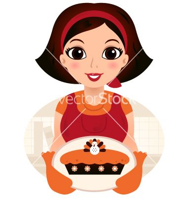 Retro cartoon woman serving thanksgiving food vector 1653538 - by lordalea on VectorStock®