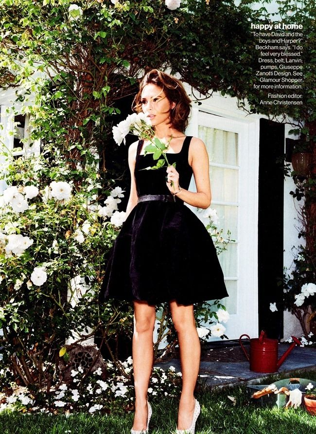 """GLAMOUR MAGAZINE: VICTORIA BECKHAM IN """"VB THE REAL ME"""" BY PHOTOGRAPHER PAMELA HANSON"""