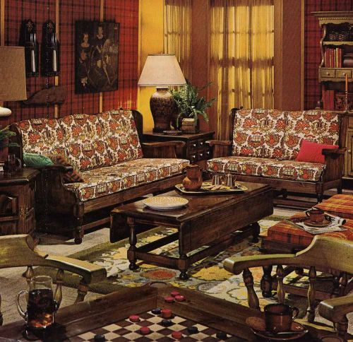 bicentennial chic vintage ethan allen ~ even as a young girl I used to drool looking at furniture adds like this Ethan Allen room.