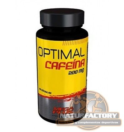 Optimal Cafeina 200 mg de Megaplus es un suplemento dietético que disminuye el cansancio y aumenta el rendimiento deportivo o laboral. Envío Gratis 24h.