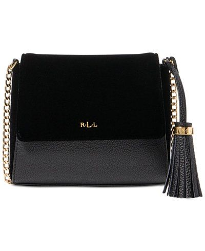 Lauren Ralph Lauren - Mini Skyler Crossbody. Velvet and pebbled faux leather  panels in a sleek tonal palette give this crossbody bag by Lauren Ralph  Lauren ... 25856cfa04d5b