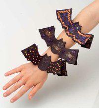 "TLC Family ""28 Fun Halloween Crafts"" bat bracelets"