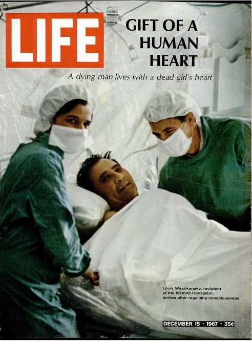 First heart transplant. Amazing how far we have come. Next up? Raise awareness and dispel the myths.