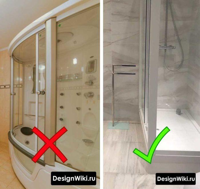 Ванная комната с душевой кабиной (85 фото идеи дизайна