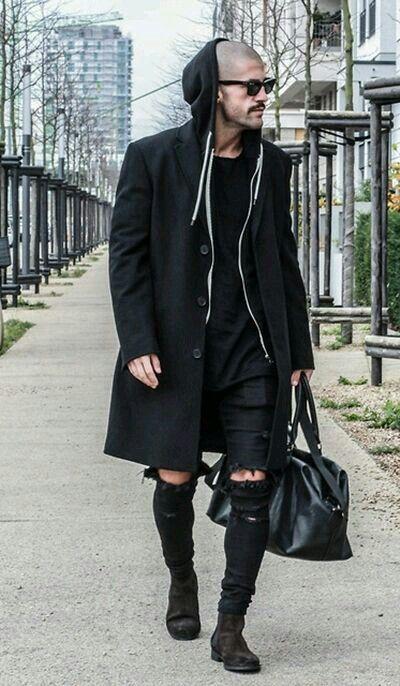 All black everything Kosta Williams #Fashion #Art #inspiration #urban #Street #