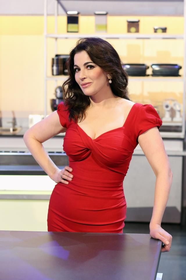 Nigella Lawson red dress