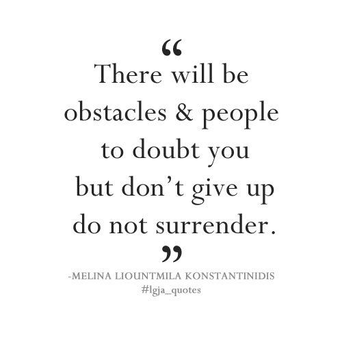obstacles, do not give up quotes