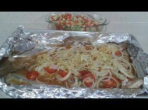 pescado sarandeado al horno - YouTube