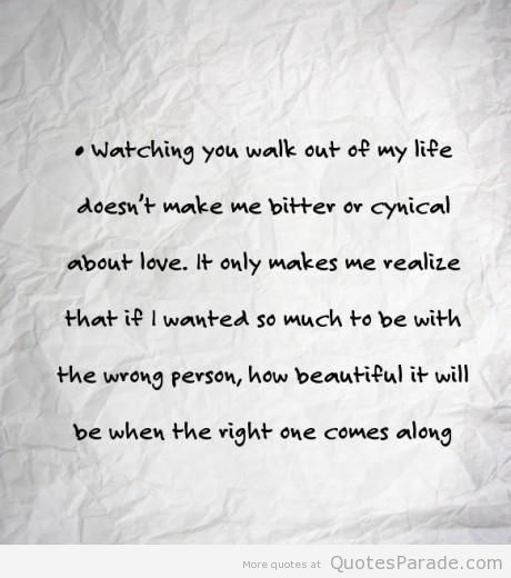Best heartbreak quote ever, how beautiful it is now..... I thank you for letting me go.