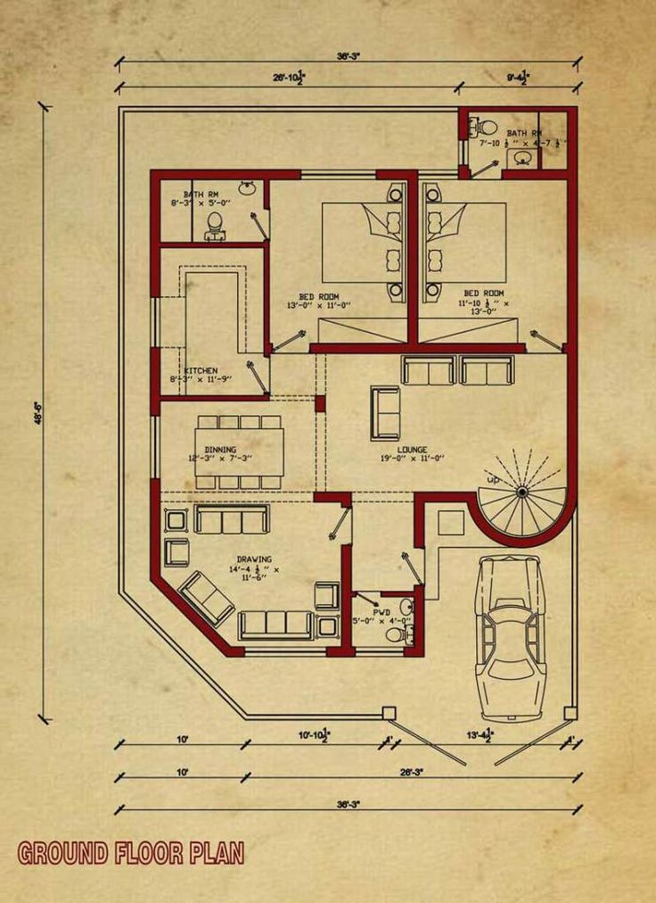 High Quality House Floor Plan. Construction Cost ...