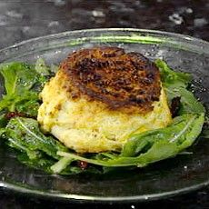 Twice baked cheese souffle - I use little Hereford, don't bother with the infusing and top with cream & Parmesan