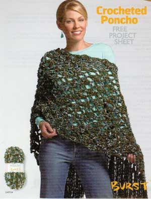 Crocheted Poncho: free and easy level pattern