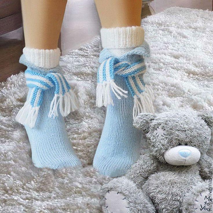 Купить Вечерний променад. Носки вязаные шерстяные, гетры короткие. - носки вязаные