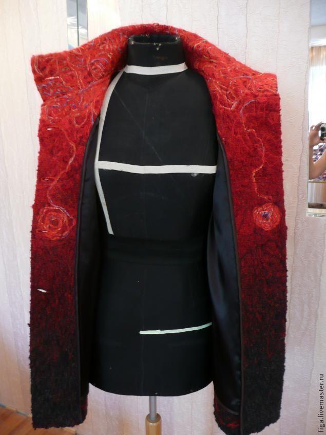 Изготовление деталей для пошива пальто в технике крейзи-вул - Ярмарка Мастеров - ручная работа, handmade