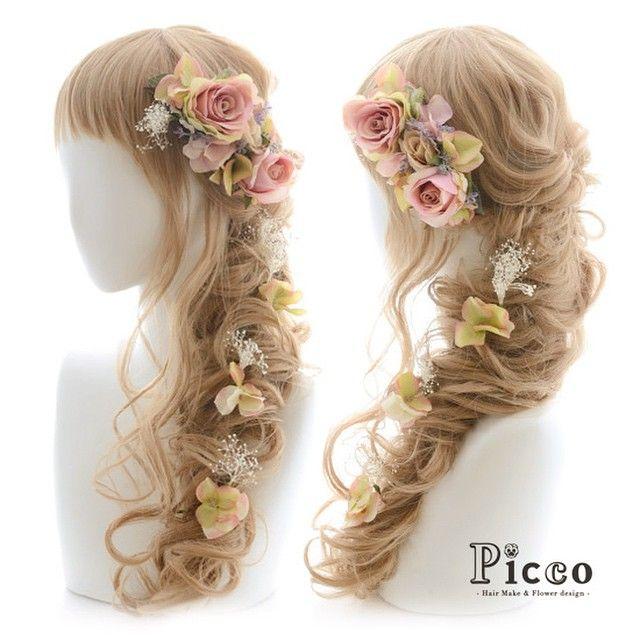 "Gallery 98 New Arrival! Antique Colors Hair Accessory ""Picco"" http://picco-flower.com/ #アンティークな #ピンク の #ローズ が #エレガント な #髪飾り #ドレス #パーティー にも #custommade #original #hair #hairdo #dress #antique #party #event #headdress #ブライダル #ウェディング #花嫁 #結婚式 #学生 #女子力 #イベント #ヘアアレンジ #オリジナル #ピッコ #picco #誕生日 #ヘアアクセサリー"