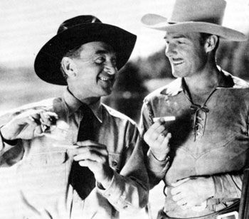 Harry Carey Sr. and Randolph Scott in 1933