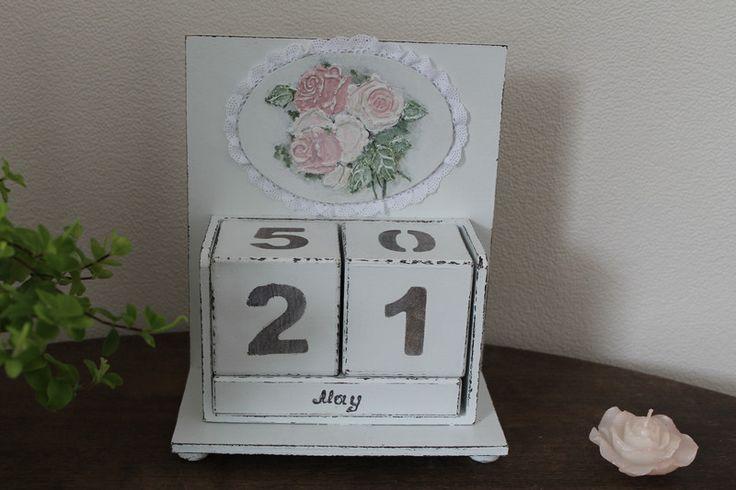 Deko-Objekte - Shabby Kalender*Holzkalender*Dauerkalender - ein Designerstück von vintage_Schop bei DaWanda