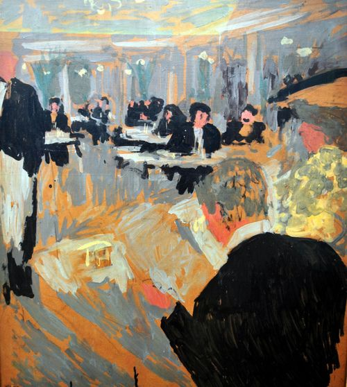Edouard Vuillard - Cafe Scene, at Neue Pinakothek Munich, Germany