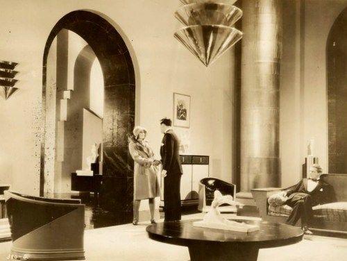 A 1920's Hollywood movie set