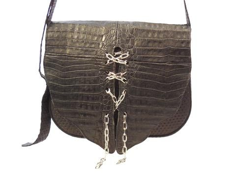 Designer Crocodile & Italian Leather Handbag