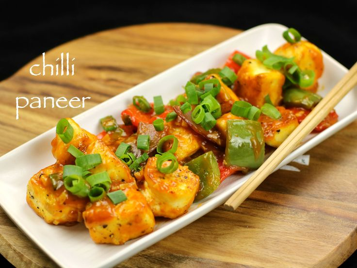 chilli paneer recipe, chilli paneer dry recipe with step by step photo