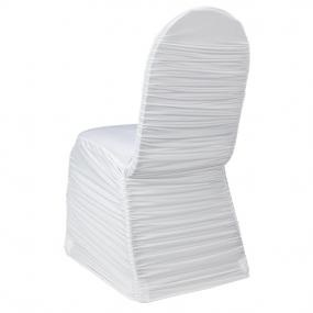 HOT FOR 2013 White Ruched Spandex Chair Cover #wedding #spandex #chaircovers #ruched