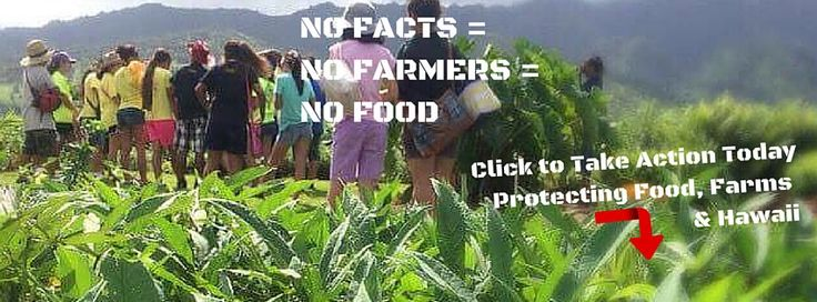 No Facts = No Farmers = No Food   Oppose Bad Laws Today