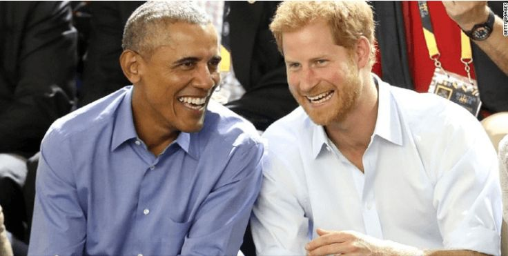 It was the reunion of a prince and a President -- this time in Canada.  Prince Harry brought along some popular friends at the Invictus Games in Toronto this year. The prince was pictured chatting and laughing Friday with former President Barack Obama, accompanied by his Vice President, Joe Biden and wife, Jill The foursome cheered on the teams and took photos with players.