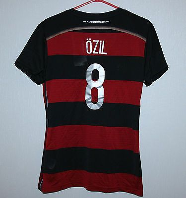 Germany national team away #shirt #womens 14/15 #8 ozil adidas bnwt #world cup,  View more on the LINK: http://www.zeppy.io/product/gb/2/182219762997/